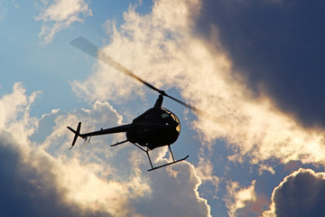 Poster Helicopter Robinson R22 - Tango Bleu - Roanne 2014
