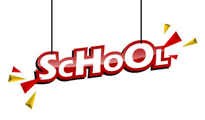 red and yellow tag school