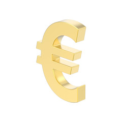 3D illustration isolated gold uero money