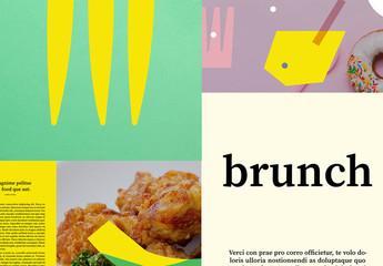 Modèle de livre de cuisine fantaisiste