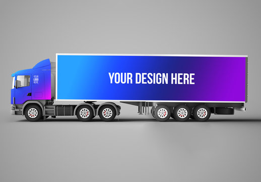 Freight Truck Mockup