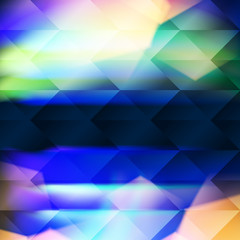 Blue polygonal illustration consist of hexagonal elements. Triangular pattern for your business design. Geometric background with gradient.