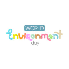 World environment day. Creative hand drawn lettering with doodle. Save nature. Eco friendly design. It can be used for banner, poster, invitation, card, brochure. Vector illustration, eps10