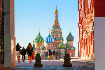 St. Basil's Cathedral at Red Square in Moscow