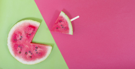 pacman watermelon slice eating small slice