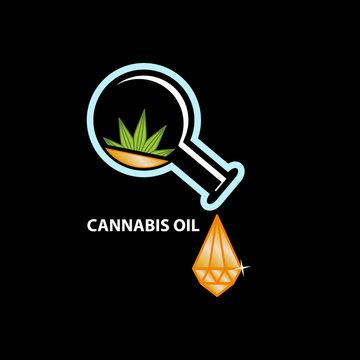 Cannabis oil as crystal