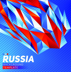 Russia theme vector modern background template, Russian flag colors.