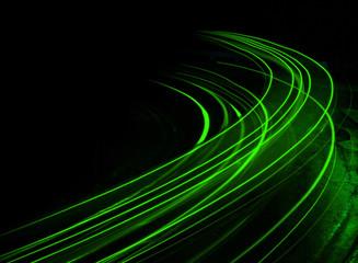 Long exposure at night green streaks