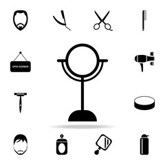 desk mirror icon. Detailed set of barber tools. Premium graphic design. One of the collection icons for websites, web design, mobile app