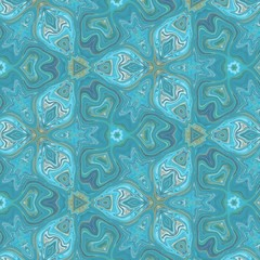 Elegant turquoise and gold seamless texture. Abstract background. Creative pattern for any printed production, print on fabric, canvas, paper and ceramic. Template for decoration of design products.