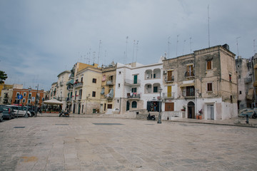 Bari Alupia city houses an old streets in Italy