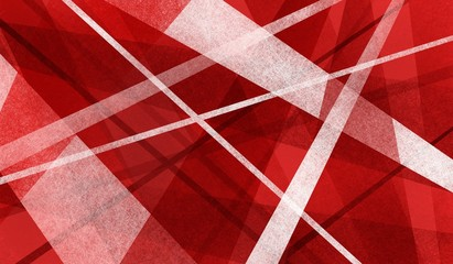 abstract red and white background with angles and lines in modern art style design with texture