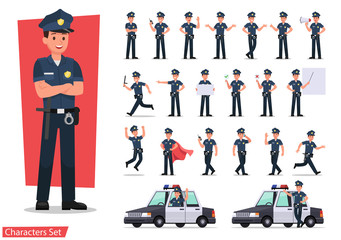 police character vector design no12