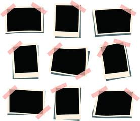 Pasted photo frame set