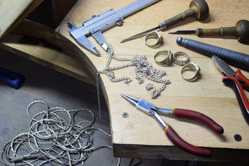 jewelry industry, the jeweler works with products from precious metals