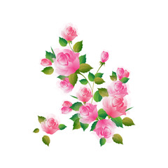 Beautiful watercolor flowers decorated background. Can be used as greeting card or invitation card design.