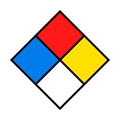 NFPA 704 - Standard System for the Identification of the Hazards of Materials for Emergency Response, blank fire diamond or safety square sign template