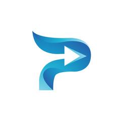 letter P logo color template