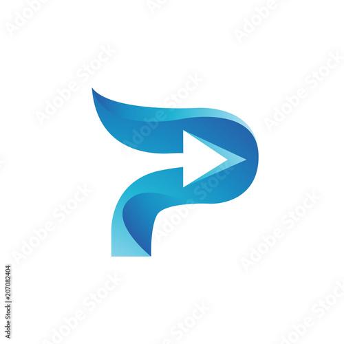 letter p logo color template fotolia com の ストック画像と
