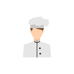 Avatar Cook profession. Vector illustration of a chef. Well suited to web design, Element for advertising. Vector. Eps10.