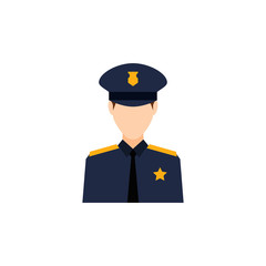 colored avatar of policeman icon. Element of colored people profession icon for mobile concept and web apps. Detailed colored avatar of policeman icon can used for web and mobile on white background