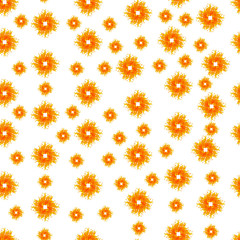 Seamless Pattern with Summer Sun Shapes. Vector Illustration on a white background
