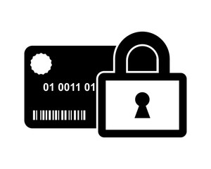 padlock card business company office corporate image vector icon logo
