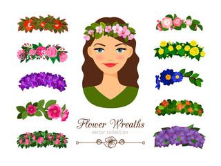 Girls flower wreaths