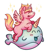 Unicorn rides Narwhal