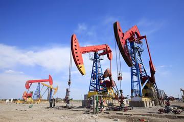 Oil pipeline in oil field