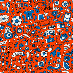 Soccer tournament, football league team international championship. Seamless pattern for your design