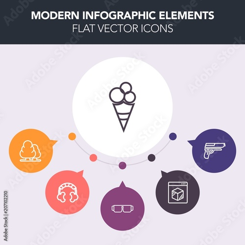 Modern, simple, colorful vector infographic background with internet