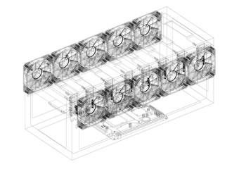 Mining Rig Architect blueprint - isolated