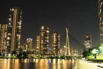 東京夜景(佃島)
