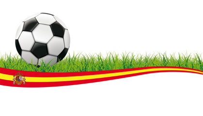 Football Grass Header Spain White Background