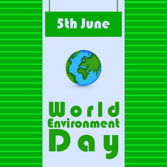 Illustration of World Environment Day background