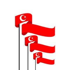 Turkey Flag Vector Template Design Illustration