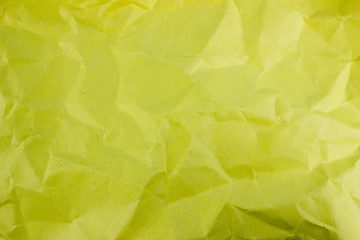 Crumpled yellow torn paper background. Empty space for text and design. Template for banner and message