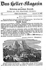 Das Heller-Magazin eine Zeitschrift zur Verbreitung gemeinnütziger Kenntnisse, January 1, 1834