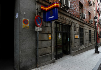 The police station where British businessman Bill Browder was taken to detained and then released by Spanish police is seen in Madrid