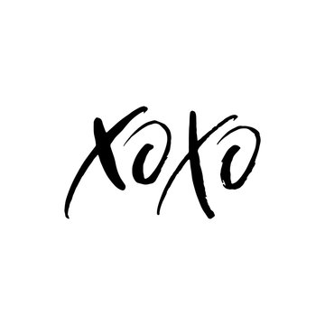 Hand drawn lettering card. The inscription: xoxo. Perfect design for greeting cards, posters, T-shirts, banners, print invitations.