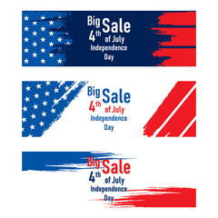 independence day of USA sale banner design