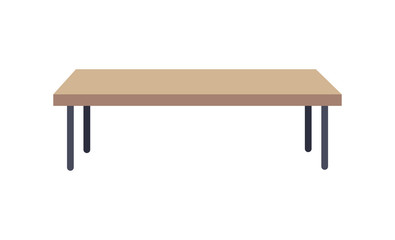 Rectangular Shaped Table, Vector Illustration