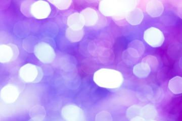 キラキラなボケ背景 白青紫ピンク