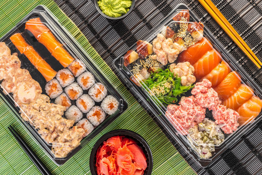 sushi set in package