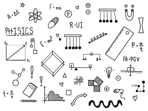 Science doodle set.