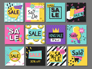 Vector illustration special offer big sale flayer card template special spring discount promotion poster.