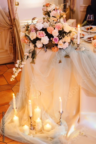 Wedding Tables Set For Banquet Or Wedding Event Catering Party