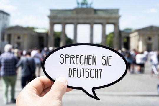 question do you speak german written in german