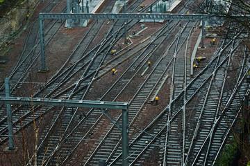 Bahngleise Edinburgh